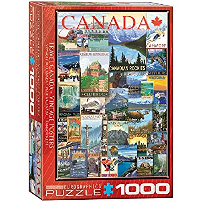 EuroGraphics Travel Canada Vintage Ads Puzzle (1000 Piece): Toys & Games