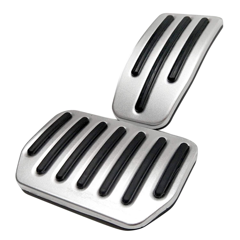 2 PCS Anti-d/érapant en Aluminium Acc/él/érateur De Frein Pied Repose P/édales Pads Couvre Compatible avec Tesla Mod/èle 3 Auto Accessoires De Voiture