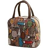 - Lonchera de Fitfulvan, bolsa térmica aislante para picnic, bolsa de refrigeración, bolsa para el almuerzo, brocha de maquillaje, Coffee, As Show, 1
