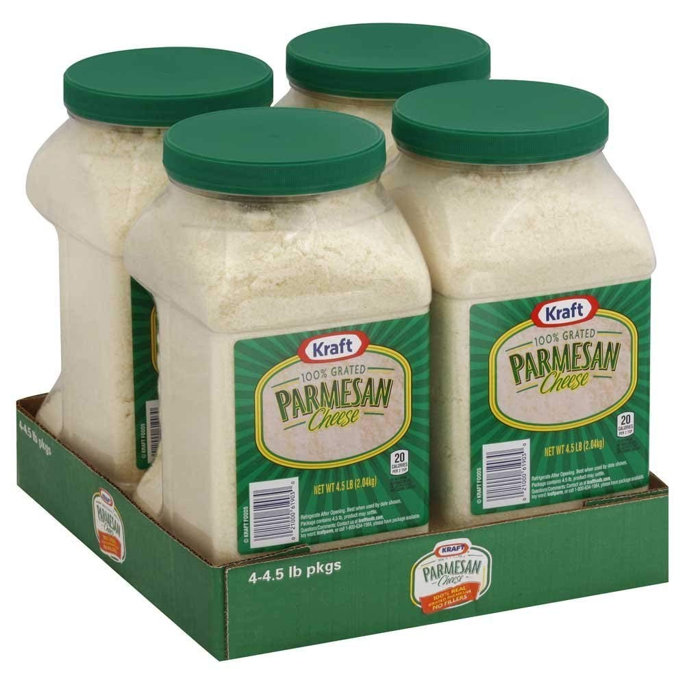 Kraft Grated Parmesan Cheese, 4.5 Pound - 4 per case.