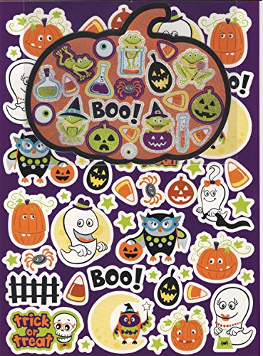 Creatology Sticker Set ~ Halloween Edition (Trick or Treating Ghost Family, Owls and Signs of Halloween; 73 Stickers)