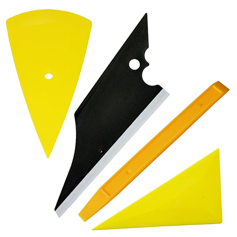 Ehdis Autoglas-Schutzfolie Installation von Werkzeugen: 4' Filzkante Car Bodenschieber, Snitty Sicherheit Vinyl Cutter, Auto-Lock-Gebrauchsmesser mit 10 Blades