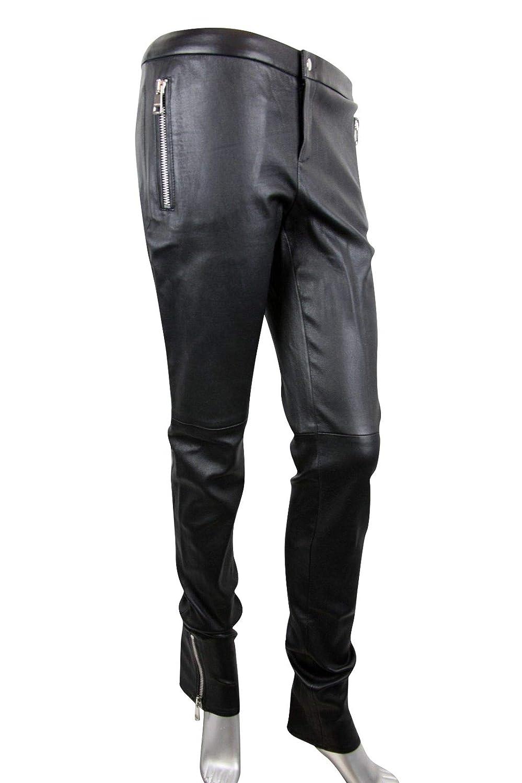 723873aea30 Gucci Women s Leggings Black Lamb Leather Stretch Pants 356036  Amazon.ca   Clothing   Accessories