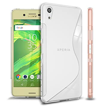 3140dc9df7 WOEXET SONY Xperia X Performance ケース TPU素材 ソフト Sデザイン しなやかな手触り 薄 軽量