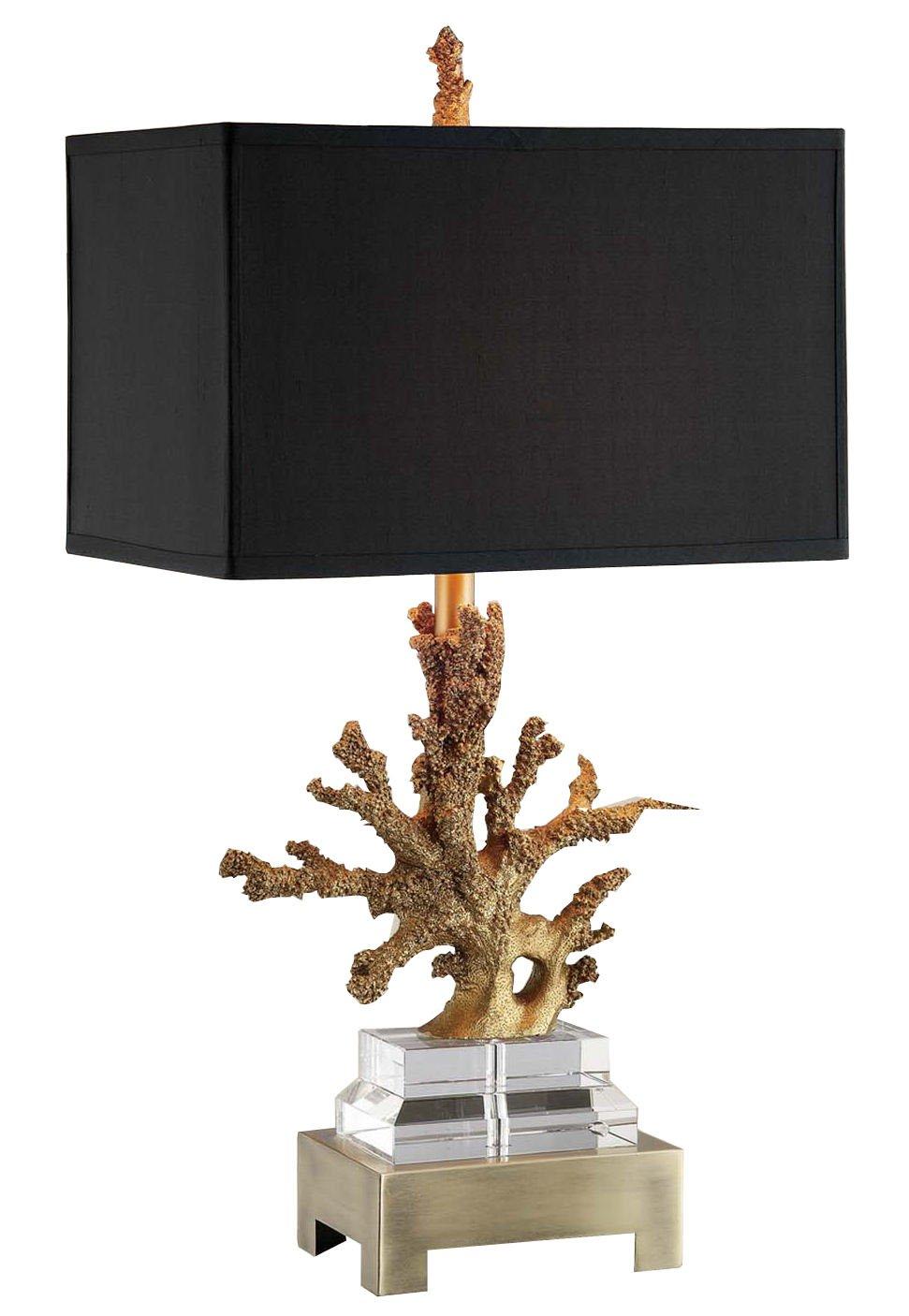 Amita Trading Gold Coral Table Lamp with Shade by Amita Trading B00U8TKXBY