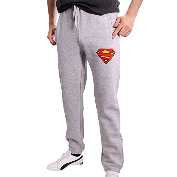 ed029bce Superman DC Comics Classic Logo – Men's Tracksuit Bottoms Grey - Grey - S