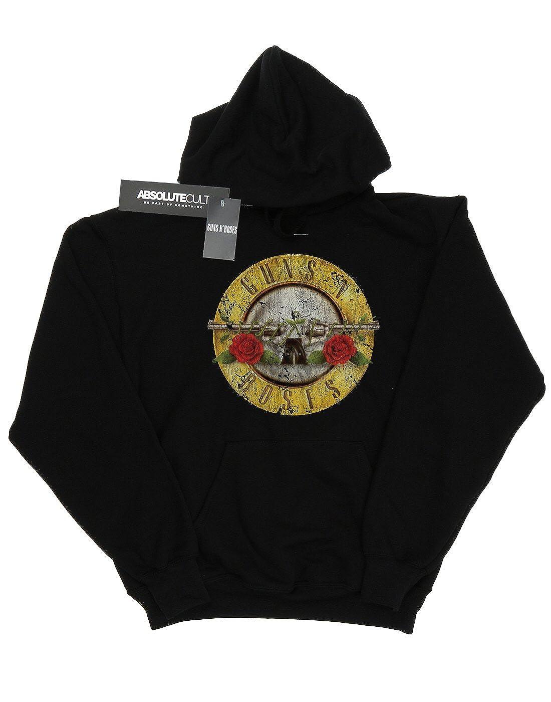 Guns N Roses Womens Vintage Bullet Logo Hoodie