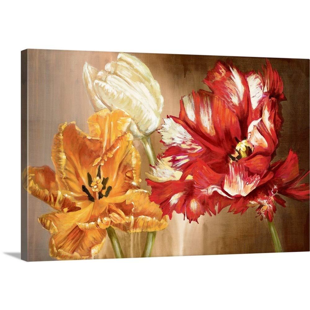 Selina Werbelowプレミアムシックラップキャンバス壁アート印刷題名チューリップ 48