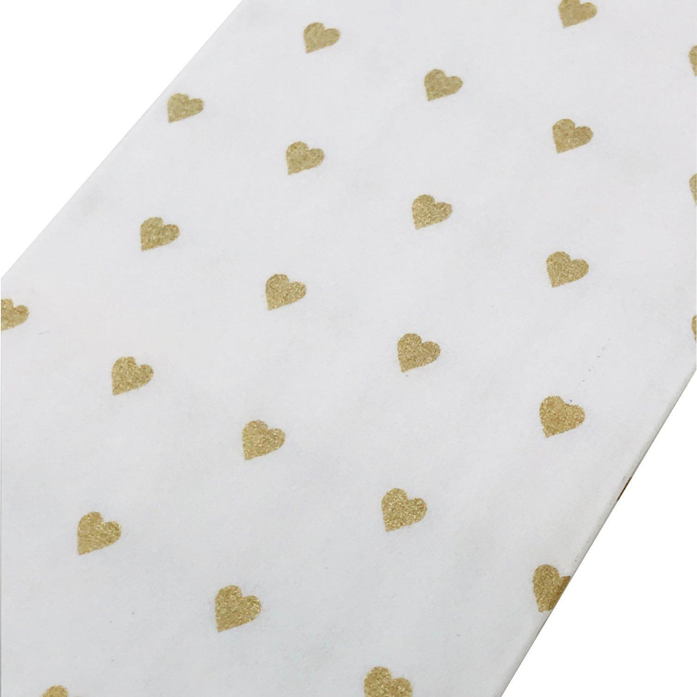 Or de 100 mouchoirs en forme de c/œur et 100 banderoles pour larmes de joie sur la mariage