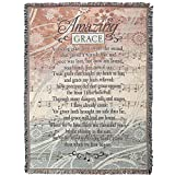 Amazing Grace Song Sheet Music 52 x 68 All Cotton Tapestry Throw Blanket