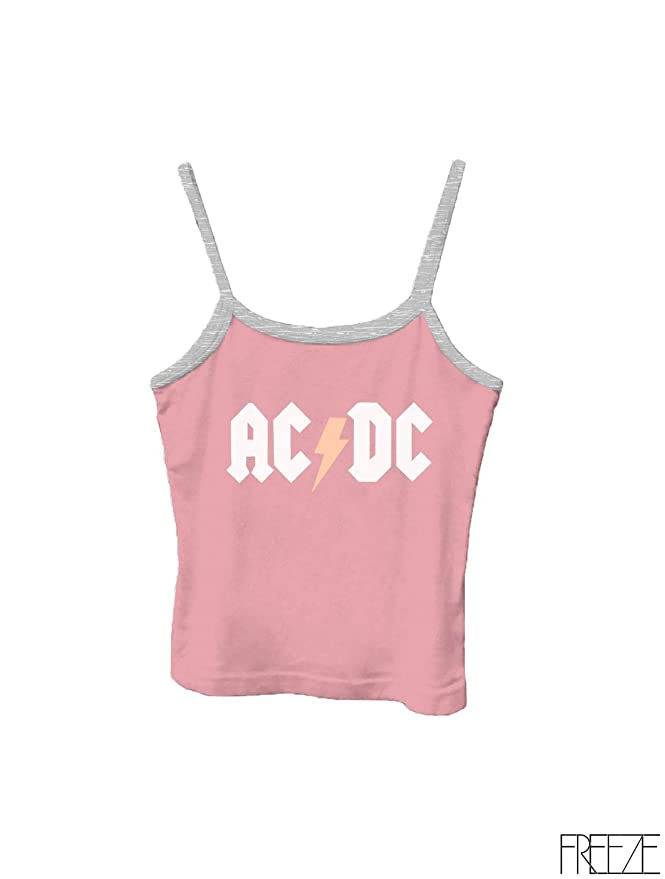 7bf992efed8 Amazon.com: Graphic Print Strap Tank Top Women - Mickey, ACDC, Nickelodeon  Print: Clothing