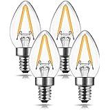 C7 Mini Candelabra LED Bulb, DORESshop No Dimmable C7 LED Filament Night Bulb, 2W (20W Equivalent), E12 Candelabra Base…