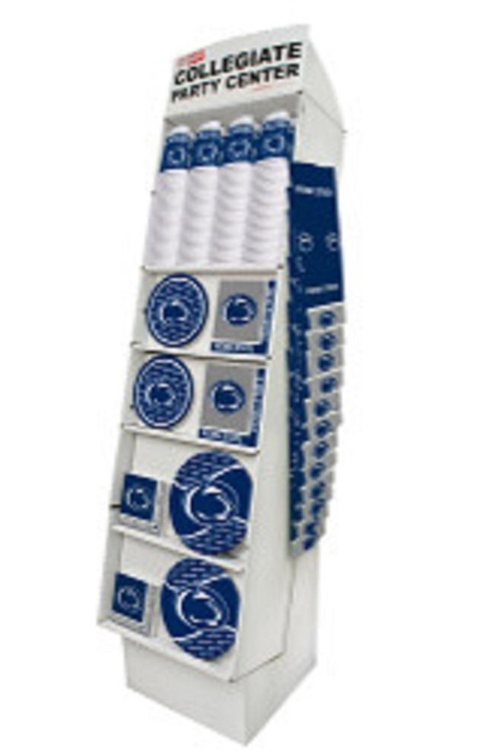 Club Pack of 126 White and Blue Pennsylvania State University Nittany Lions Floor Displays 63''