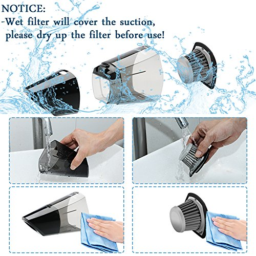 Rechargeable Cordless Hikeren Lightweight Portable Cleaner 100W Filter a Bag