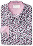 Ted Baker Men's Slim Fit Gates Floral Dress Shirt, Pink, 15'' Neck 34''-35'' Sleeve