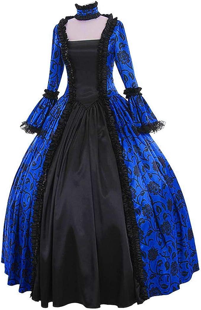 Fossenfeliz Disfraces Medievales Mujer de Bruja Reina, Vestidos de ...