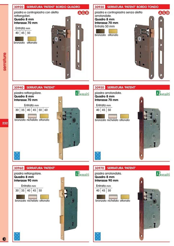 Patent Cerradura q.8/90 bronzate de 45 S/gaccia unidades de 5pz: Amazon.es: Bricolaje y herramientas