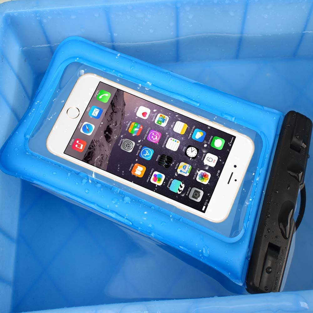 2 Pack Waterproof Phone Pouch Floating IPX8 Universal Waterproof Phone Case Underwater Dry Bag for Cell Phone Summer Water Sports and Dive Compatible iPhone Xs Max//Xr//X//8//7//6s//6 Plus Galaxy s10 6.5