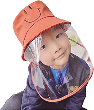 Face Cover For Kids 3D Cartoon Full Face Visor Protection PPE Transparent Clear Plastic Kids Face Visors Breathable Windproof Transparent All-Round Protection Cap for Boys Girls Outdoor School