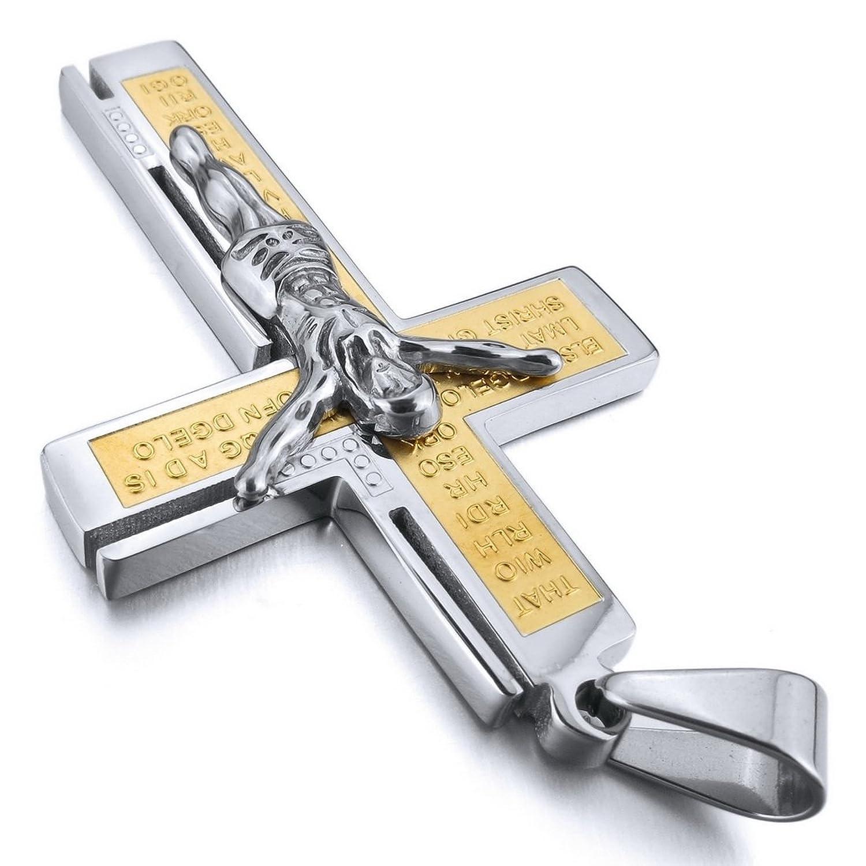 Amazon INBLUE Men s Stainless Steel Pendant Necklace Silver