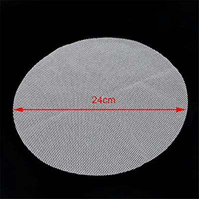 Rurah Kitchen Silicone Steamer Mesh Mats, Reusable Non-Stick Round Steamer Pad, Steamed Buns Baking Pastry Mat