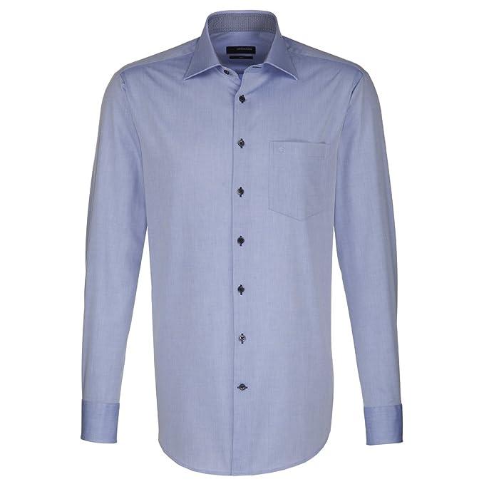 Uomo classiche Business Blu Camicia Seidensticker Classico wxSO4qxF