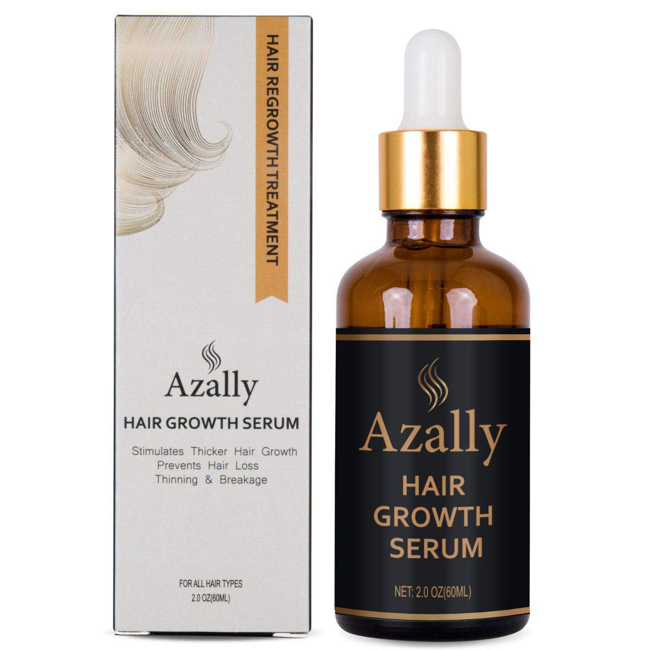 AZALLY Hair Growth Serum, Ginger Hair Growth Oil , Best Hair Loss Prevention Treatment(60ml) by AZALLY