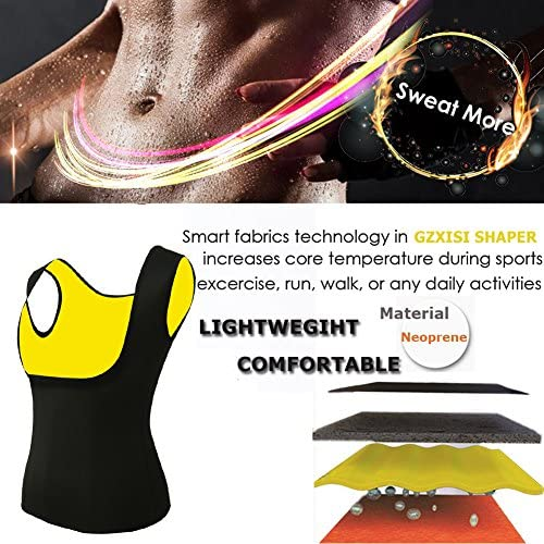 Women's Hot Sweat Slimming Neoprene Shirt Vest Body Shapers for Weight Loss Fat Burner Tank Top 3