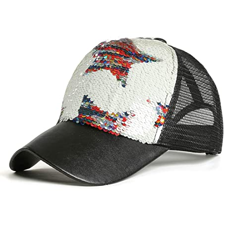 VIccoo Mujeres Chica Rainbow Doble Color Star Glitter Lentejuelas ...
