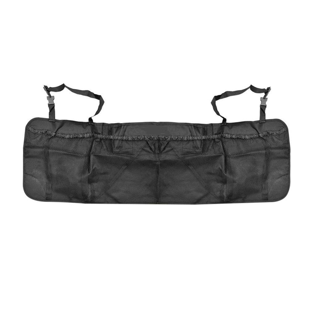 Auto Tronco organizador, AOLVO respaldo malla durable plegable almacenamiento de carga –  Mantenga Su Coche limpio y organizado (6 bolsillos, negro)