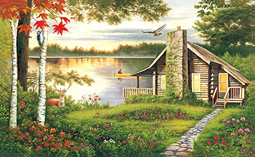 Misty Lake Cottage 1000pc Collector Puzzle By: Lee Radcliff Cottage 1000pc Jigsaw Puzzle