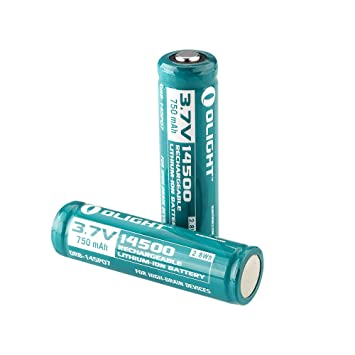 Olight Piles Rechargeables 14500 Accus Batterie Lithium Ion 3 7v