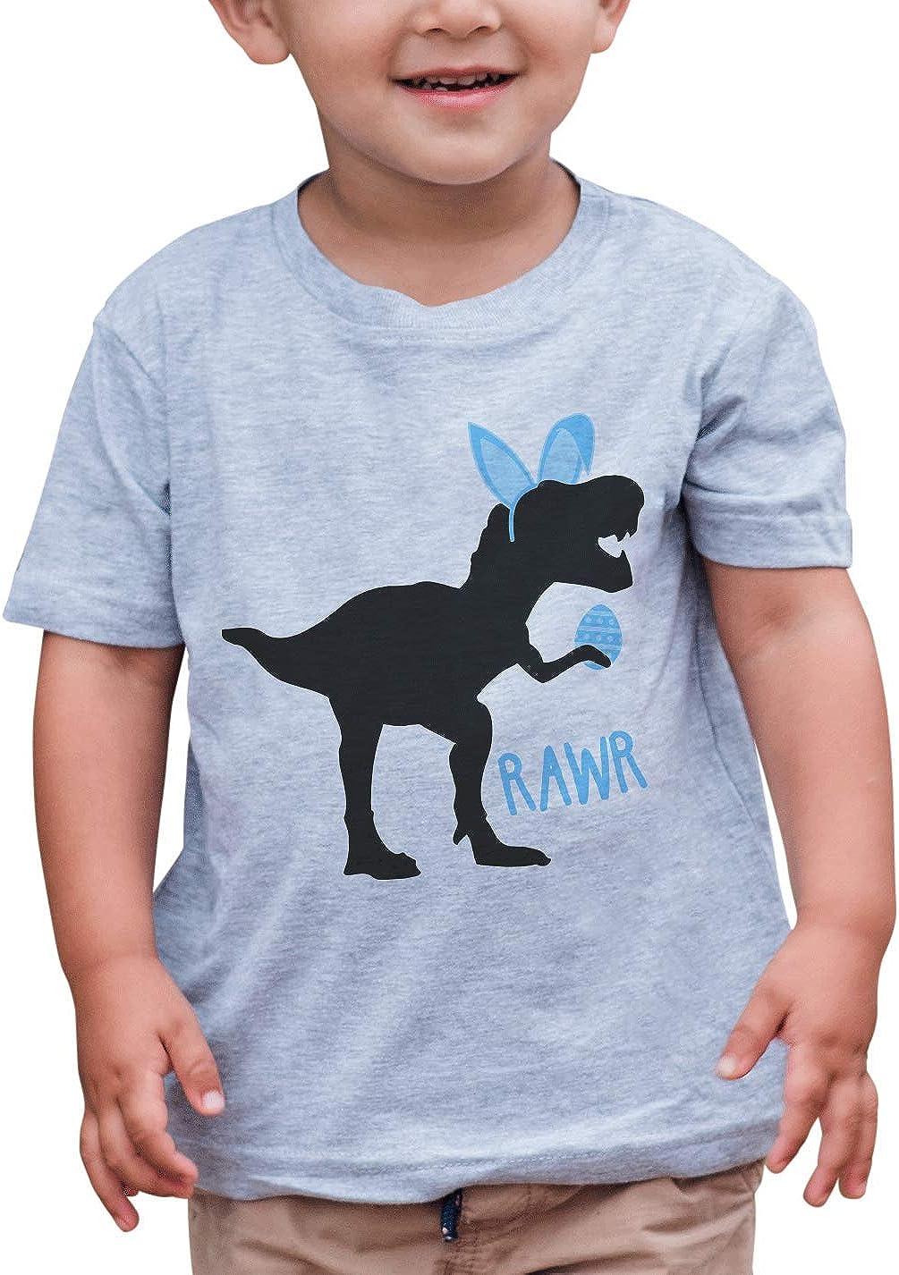 7 ate 9 Apparel Boys Easter Dinosaur T-Shirt