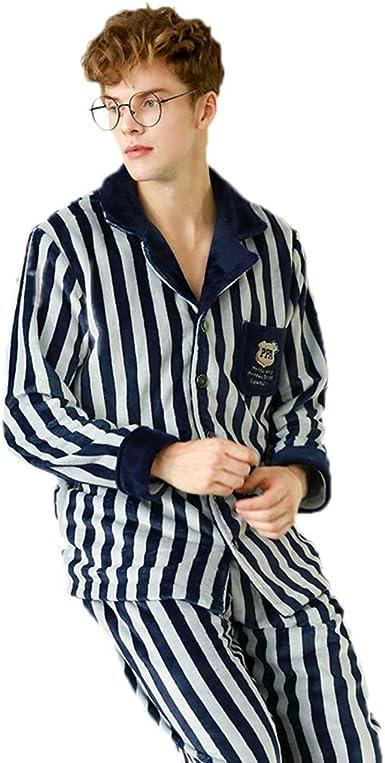 Pijamas para hombres pijamas para jóvenes coral terciopelo ...