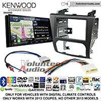 Volunteer Audio Kenwood Excelon DNX994S Double Din Radio Install Kit with GPS Navigation Apple CarPlay Android Auto Fits 2007-2013 Nissan Altima (Digital Climate Controls)