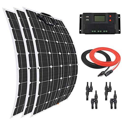 Giosolar Panel Solar 300 W Flexible Panel Solar Kit Cargador ...