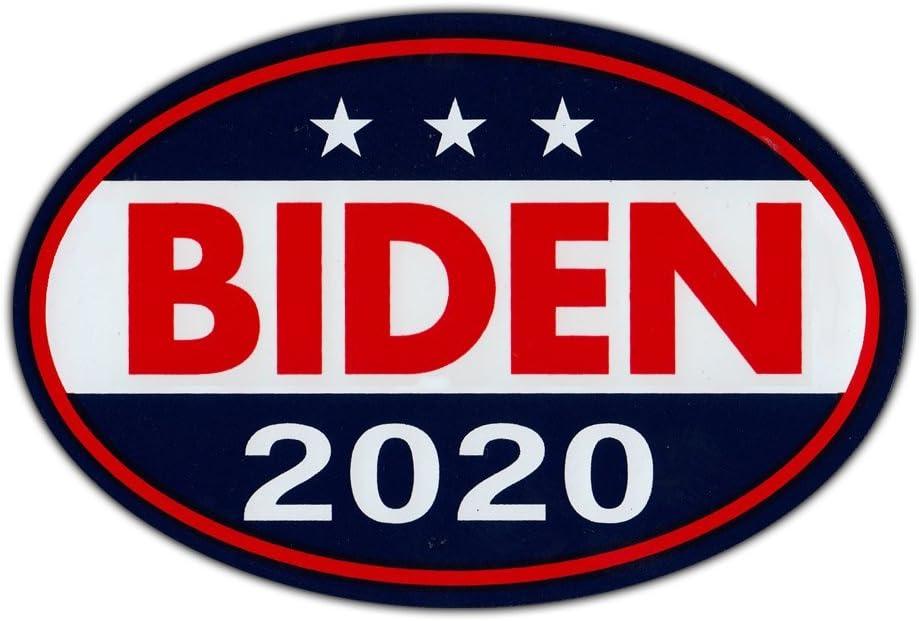 "Oval Shaped Magnet - Joe Biden for President 2020 - Democrat Party Magnetic Bumper Sticker - 6"" x 4"""