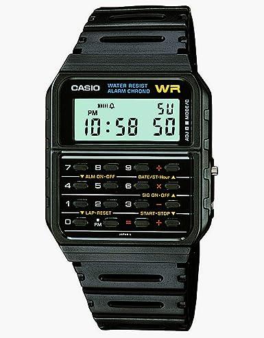 8d1002ffd3a Image Unavailable. Casio CA-53W-1 Black Retro Style Unisex Digital  Calculator Watch