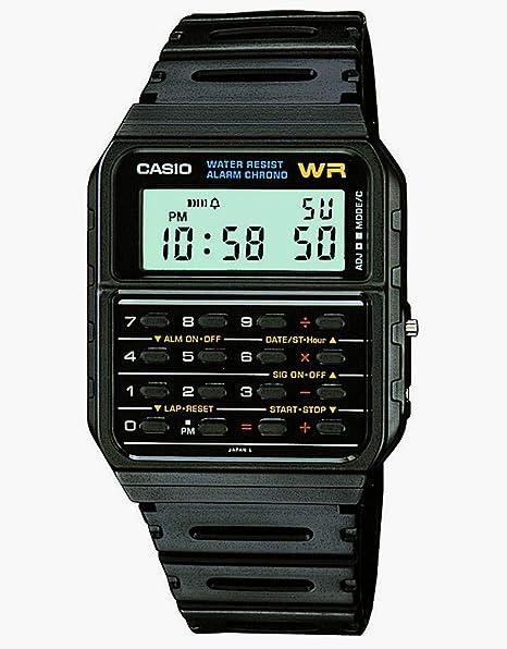 51038c23e9a Casio Men s Twincept Databank ANI-Digi Resin Watch Black CA-53W-1Z  Casio   Amazon.ca  Watches