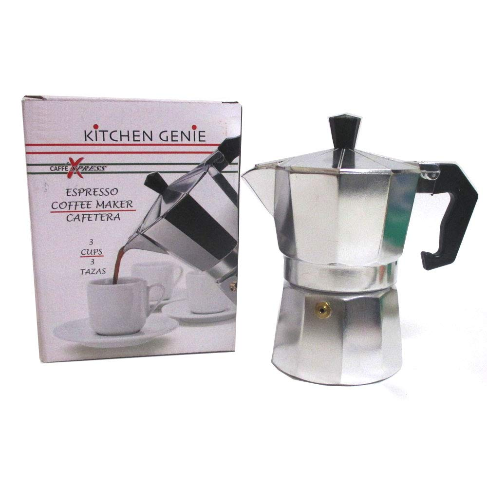 Amazon.com: Stove Top Espresso Cuban Coffee Maker pot Cappuccino Latte 3 Cup Cafetera Cubana: Kitchen & Dining