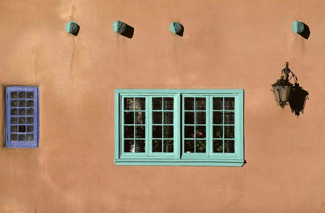 Taos, Photography, New Mexico, windows, territorial architecture, Wall Art, Art print, Gift, Photo, colorful, house, graphic, outside wall