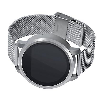 Smartwatch luz LED pantalla, cintura reloj deportivo con monitor de frecuencia cardiaca, monitor de