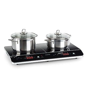 Klarstein VariCook Neo Doble placa de cocina de inducción • Cocina portátil • Vitrocerámica • 3500