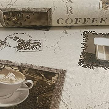 Rasch Motiv Kaffee Cappuccino Mocca Vinyl Tapete Küche 855104 Photo ...