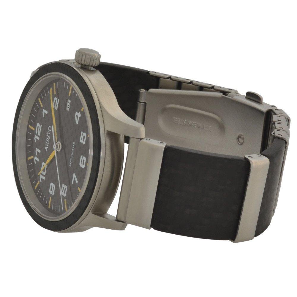 1baf4cb8e98 Aristo Swiss Automatic Pilot s Watch with Carbon Fiber Dial ...