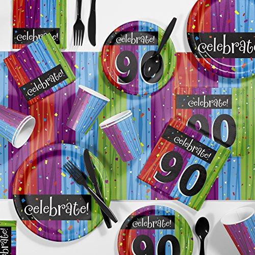 Milestone Celebrations 90th Birthday Party Supplies Kit, Serves 8]()