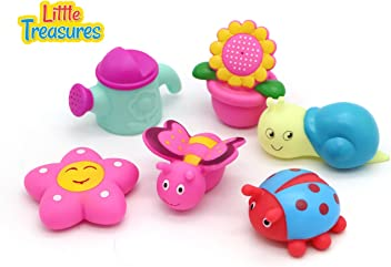 Cute Squeaking Bathtub Floating Toys 6 pcs set Garden bath toys for toddlers