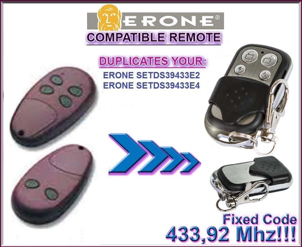 klone fernbedienung ERONE SETDS39433E2 Top Qualit/ät Kopierger/ät!!! 4-kanal 433,92Mhz fixed code ERONE SETDS39433E4 kompatibel handsender