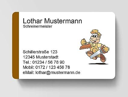 100 Visitenkarten Laminiert 85 X 55 Mm Inkl