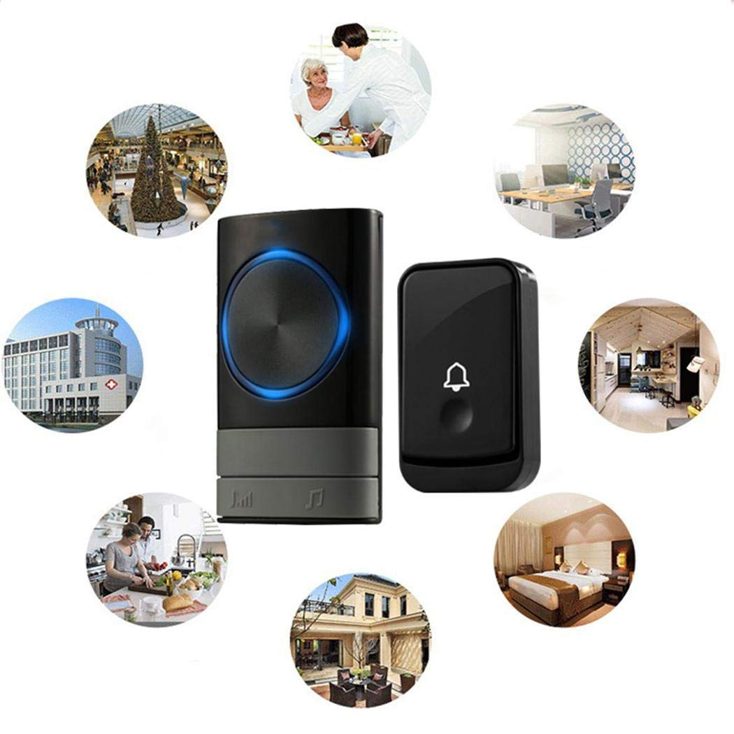 Kindsells Wireless Doorbell Pager Intelligent Electronic Music Home Doorbell Kits